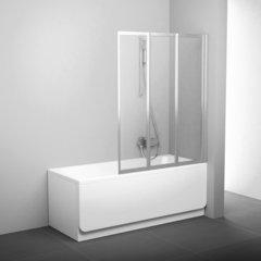 Шторка для ванны Ravak Supernova VS3 130 белая Rain