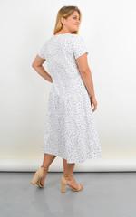 Твіст. Сукня з v-подібним вирізом для повних. Абстракція.