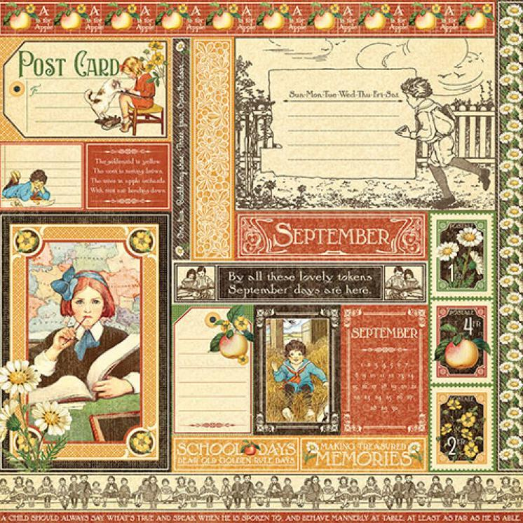 Бумага для скрапбукинга September Collective, Graphic45
