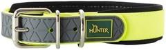 Ошейник для собак Hunter Convenience Comfort 40 (27-35 см)/2 см биотановый мягкая горловина  желтый неон