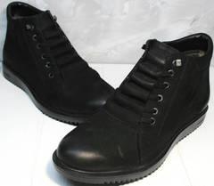 Качественные мужские зимние ботинки Luciano Bellini 71783 Black.