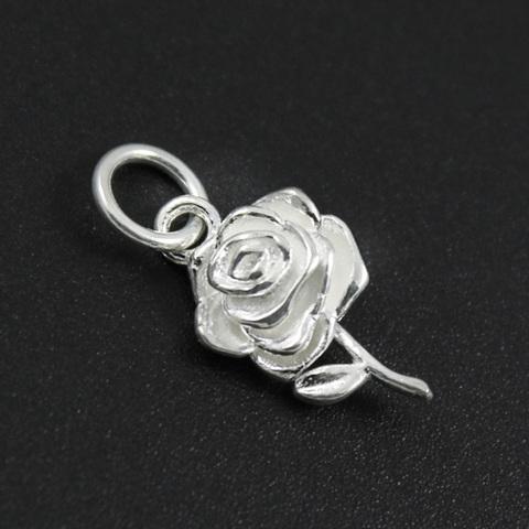 Подвеска Роза 3D объемная 17 мм серебро 925 1 шт