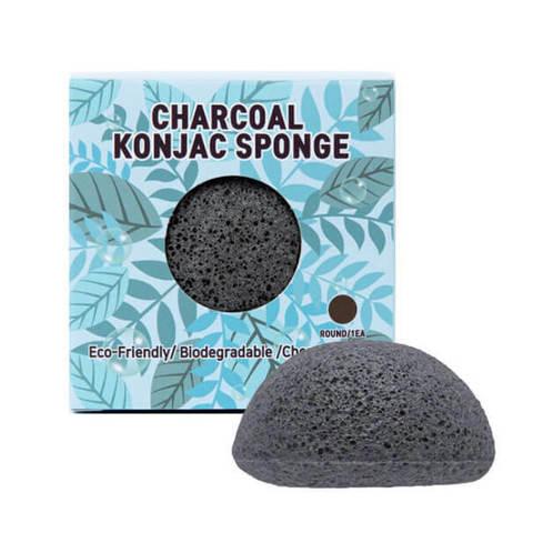 Trimay Спонж конняку с древесным углем Charcoal Konjac Sponge