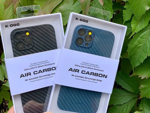 Чехол iPhone 12 Pro Max /6,7''/ K-DOO Air Carbon Full Camera /blue/