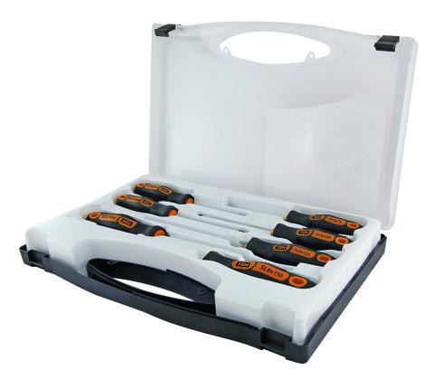 Набор отверток 7 шт.: SL3х75;5х100;6х125;8х150, PH:0х75;PH1х100;PH2х125 (чемодан), CR-V