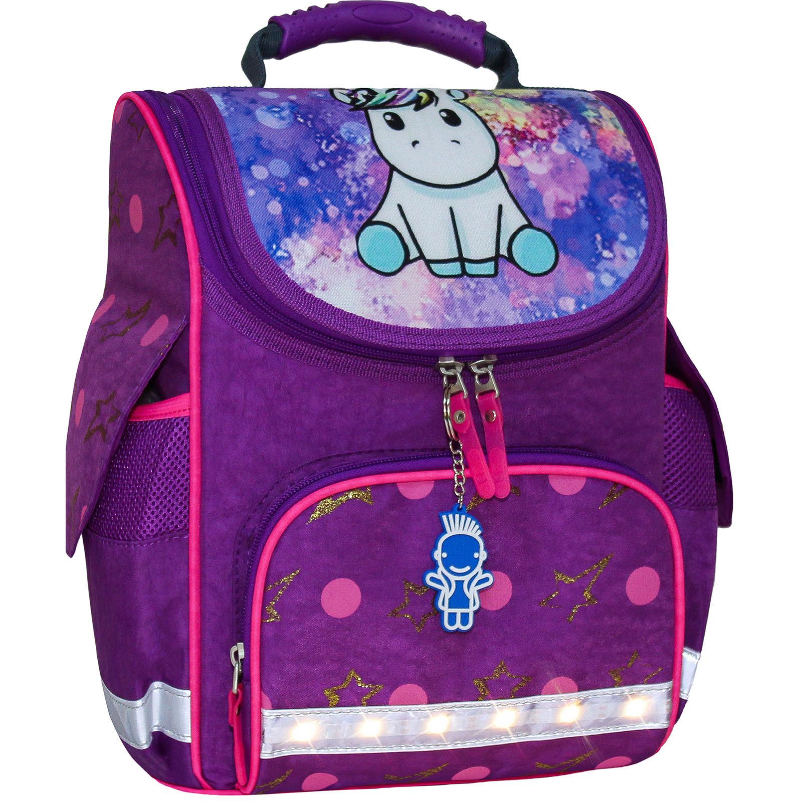 Школьные рюкзаки Рюкзак школьный каркасный с фонариками Bagland Успех 12 л. фиолетовый 428 (00551703) IMG_7250_блеск.jpg