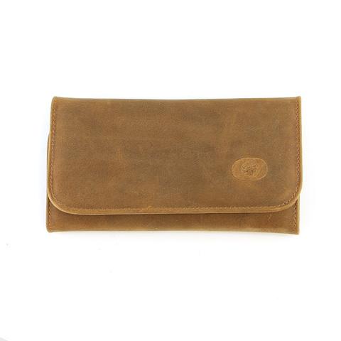 Маникюрный набор Dovo, 6 предметов, цвет коричневый, кожаный футляр