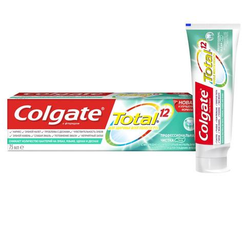Зубная паста COLGATE TOTAL 12 Профессиональная чистка гель 75 мл CN05045A