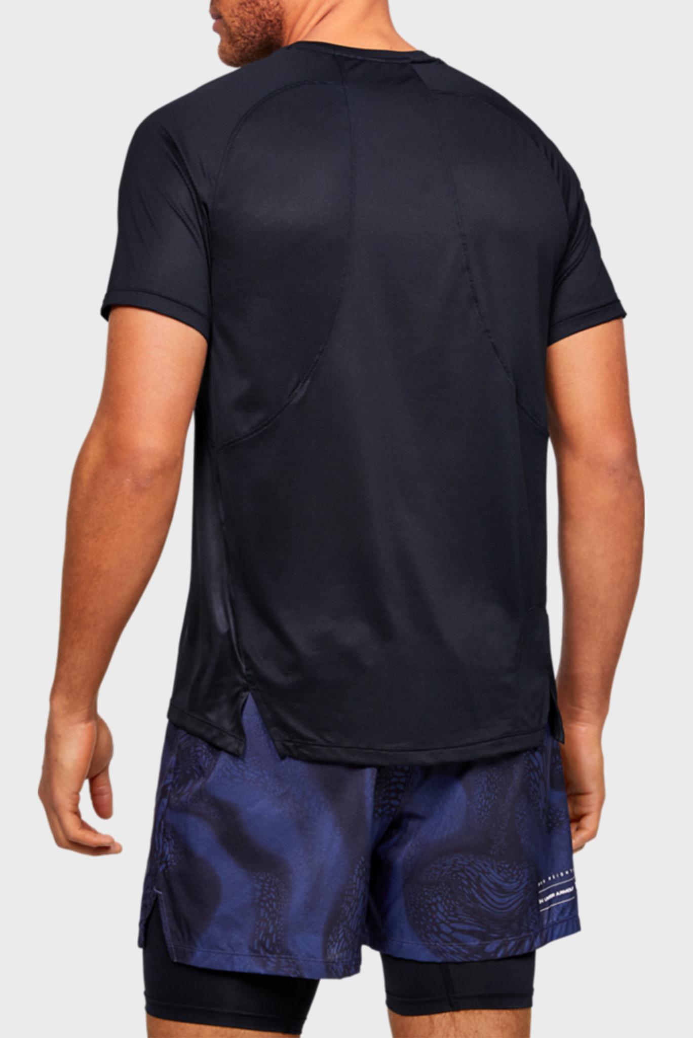Мужская черная спортивная футболка UA M Qualifier ISO Under Armour