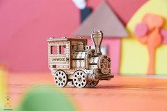 Паровозик (UNIWOOD) - Миниатюрный деревянный конструктор, 3D пазл, сборная модель