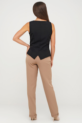 Бежевые брюки из костюмной ткани