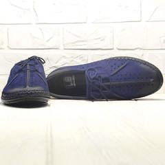 Летние туфли с перфорацией smart casual Luciano Bellini 91268-S-321 Black Blue.