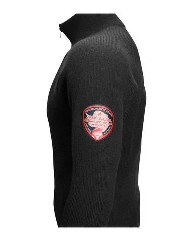 Фуфайка шерстяная с подогревом RedLaika Arctic Merino Wool RL-TM-04 мужская черная
