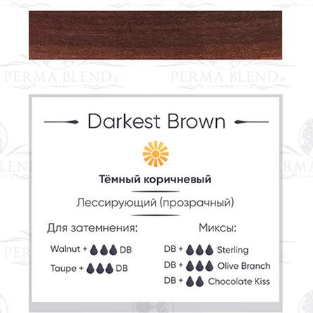 """DARKEST BROWN""  пигмент для бровей Permablend"