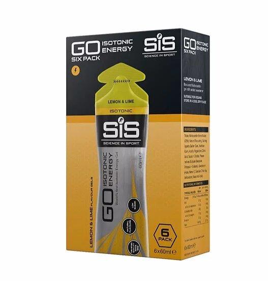 SiS GO Isotonic Energy Gel - Упаковка 6х60ml, Лимон и лайм (Великобритания)