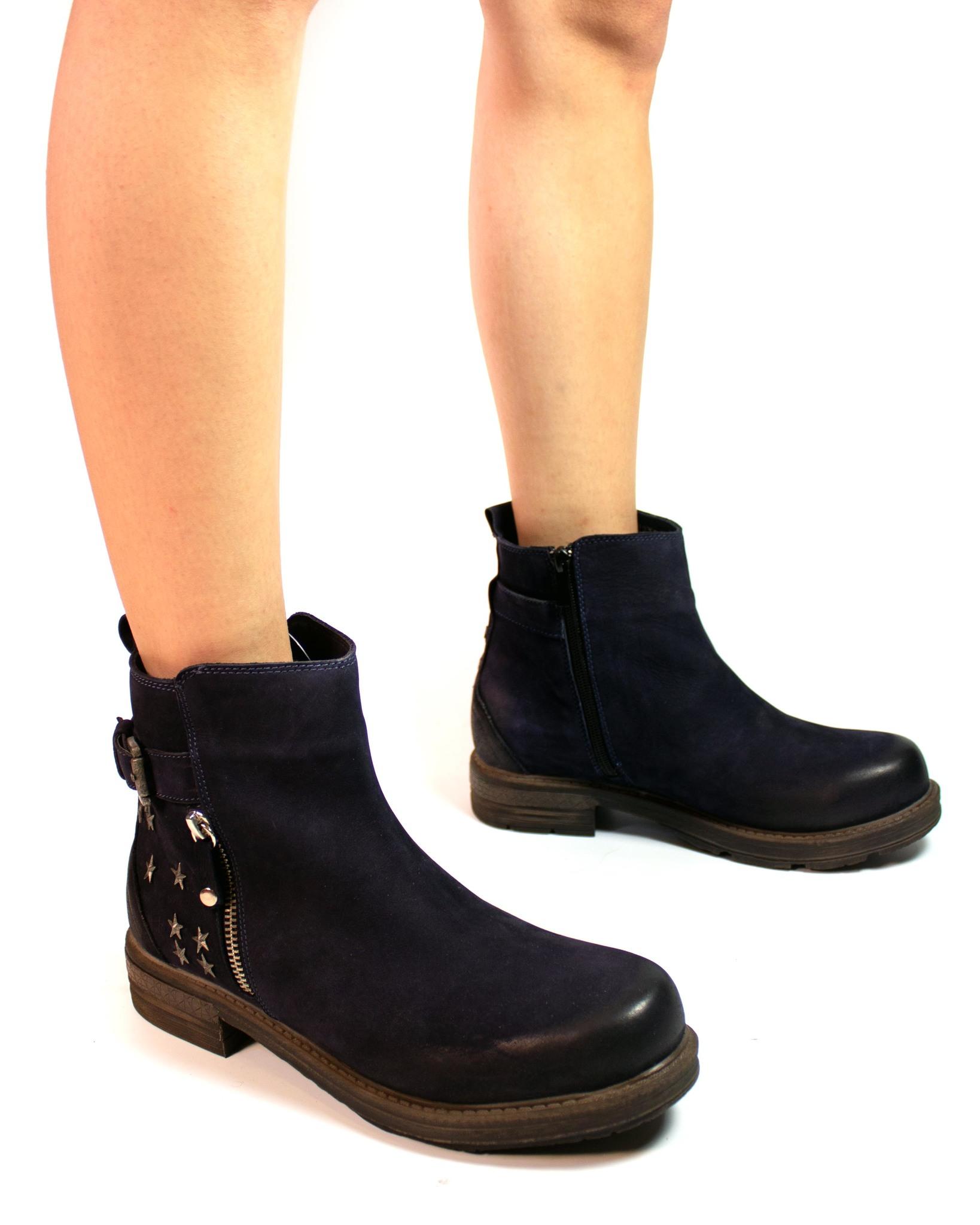 темно-синие ботинки Secret Zone