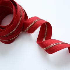 Молния металлическая №5, Красный, цена за 10 см.