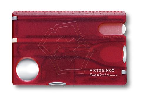 Швейцарская карточка Victorinox SwissCard Nailcare, красная