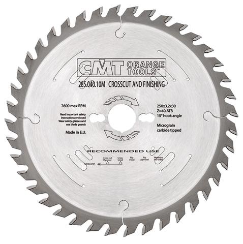 Диск пильный СМТ 254x30x2,4/1,8 -5° 10° ATB Z=60