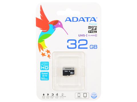 Карта памяти MicroSD  32GB  A-Data Class 10 Premier UHS-I (R/W 50/10 Mb/s) без адаптера