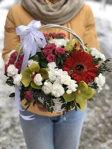 Цветы в корзинке #16392