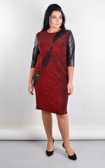 Гала. Святкова сукня великого розміру. Червоний.
