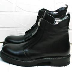 Женские кожаные ботинки утепленные осень-весна Tina Shoes 292-01 Black.