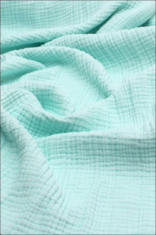 Ткань муслиновая, 4 слоя, Лазурно-голубой, ширина 240см