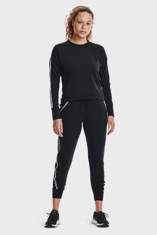 Женские черные спортивные брюки UA Rival Terry Taped Pant Under Armour