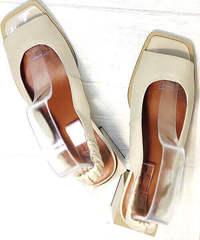 Нюдовые босоножки босоножки с открытым носком Brocoli H150-9137-2234 Cream.