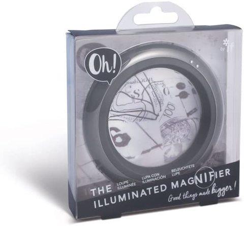 Böyüdücü şüşə Oh! The İlluminated Magnifier -Vivid Grey