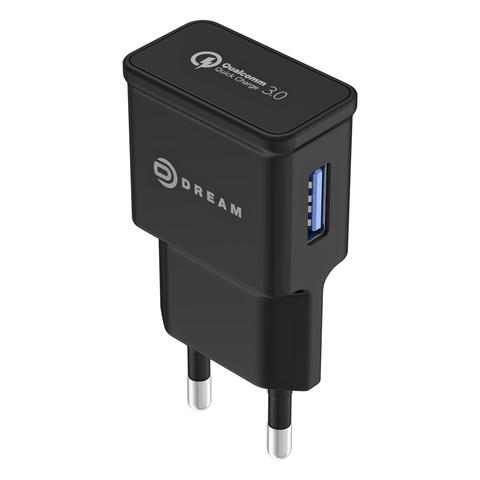 Зарядное устройство Quick Charge 3.0 Dream черный