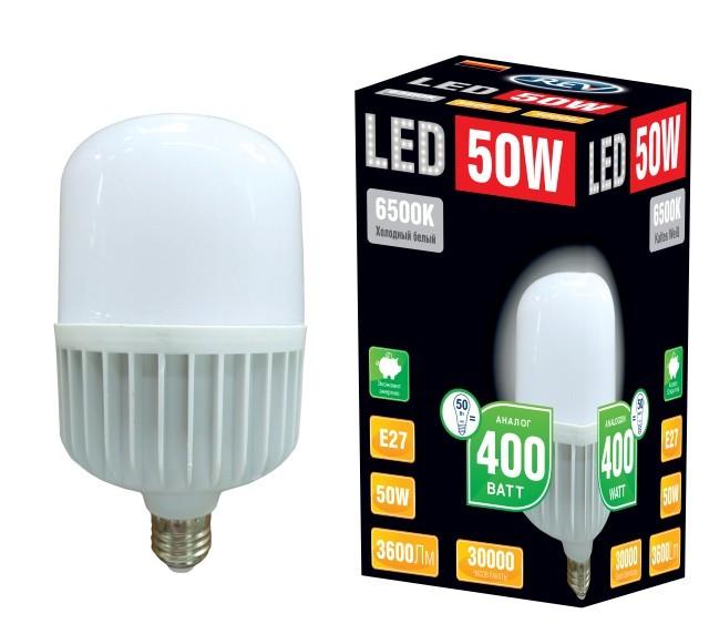 Лампа сд T125 E27 50W,6500К,дневной свет
