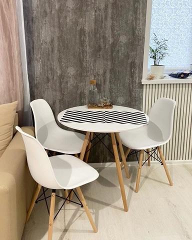 Обеденная столовая группа Eiffel Eames Style (1+4), DSW, кухонный круглый стол и стулья