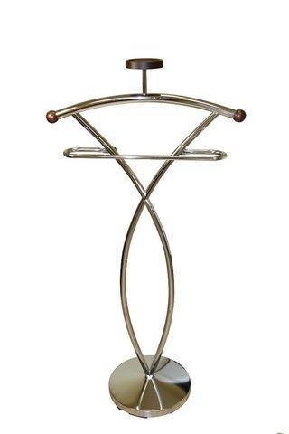 Вешалка для одежды напольная костюмная СН 4148-W орех