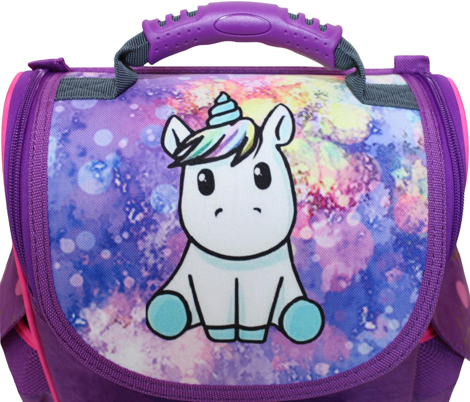 Рюкзак школьный каркасный с фонариками Bagland Успех 12 л. фиолетовый 428 (00551703)