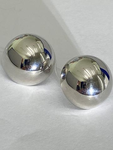 Полусферы 2,5 (пусеты из серебра)