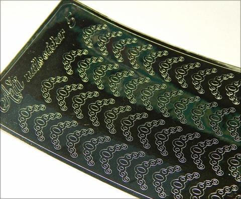 Металлизированные наклейки Arti nails Stiker цвет серебро №5 купить за 100руб
