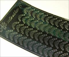 Металлизированные наклейки Arti nails Stiker цвет серебро №5