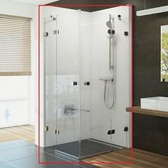 Душевой уголок с распашными дверями 90х90х195 см Ravak Brilliant BSRV4-90 1UV77A00Z1 фото