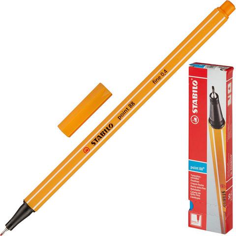 Линер Stabilo Point 88/54 оранжевый (толщина линии 0.4 мм)
