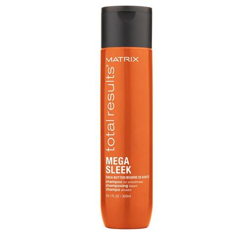 Matrix Total Results Mega Sleek: Шампунь для гладкости непослушных волос с маслом ши (Mega Sleek Shampoo), 300мл/1л