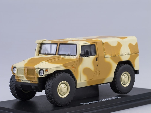 GAZ-233002 Tiger pickup with awning camouflage 1:43 Start Scale Models (SSM)