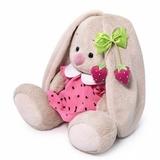 Зайка Ми в розовом платье с клубничкой