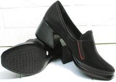 Черные туфли женские комфорт осень весна H&G BEM 167 10B-Black.
