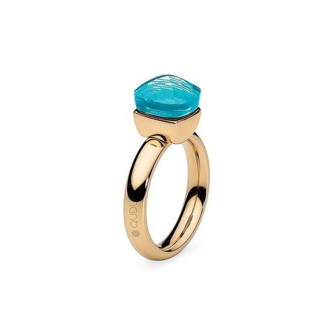 Кольцо Firenze aqua 17.2 мм 610077/17.2 BL/G