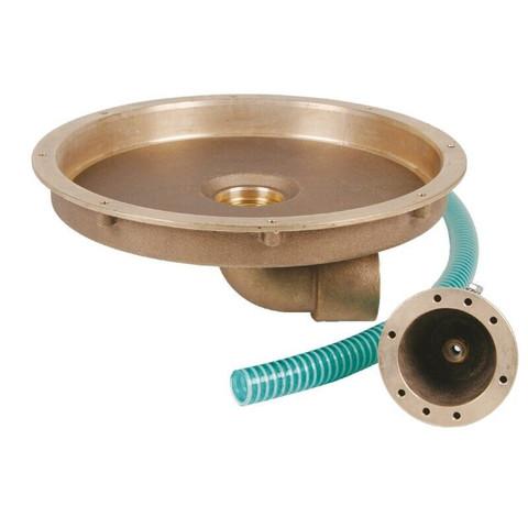 Закладная Fitstar 8500050 для гейзера 8530020 и пневмокнопки , выход 90°, Ø 344 мм / 2863