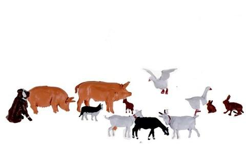 Животные на Ферме - 12 фигурок, (H0)