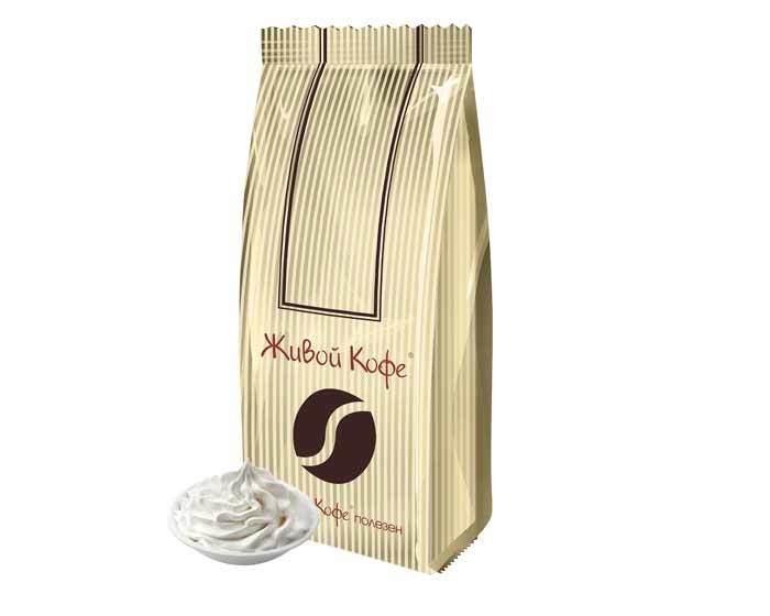 Кофе в зернах ароматизированный Живой Кофе Ванильно-сливочный, 1 кг