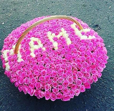 201 роза в корзине #17531
